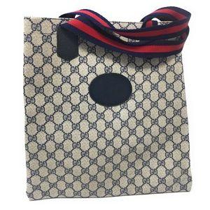 Gucci Large Purse Vintage Blue GG Shopper Tote Bag